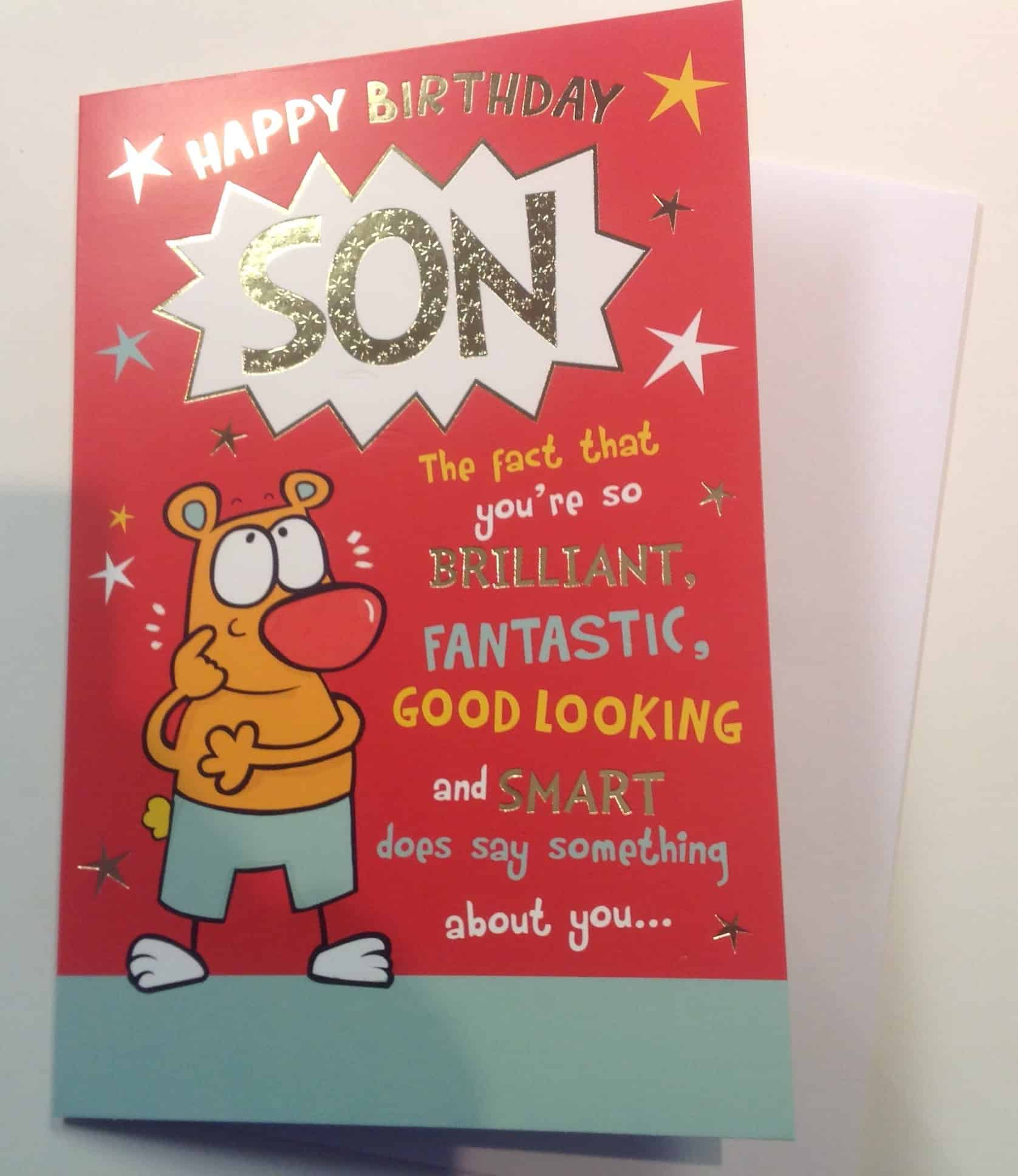 Son Birthday Card With Joke Design With Love Gifts & Cards