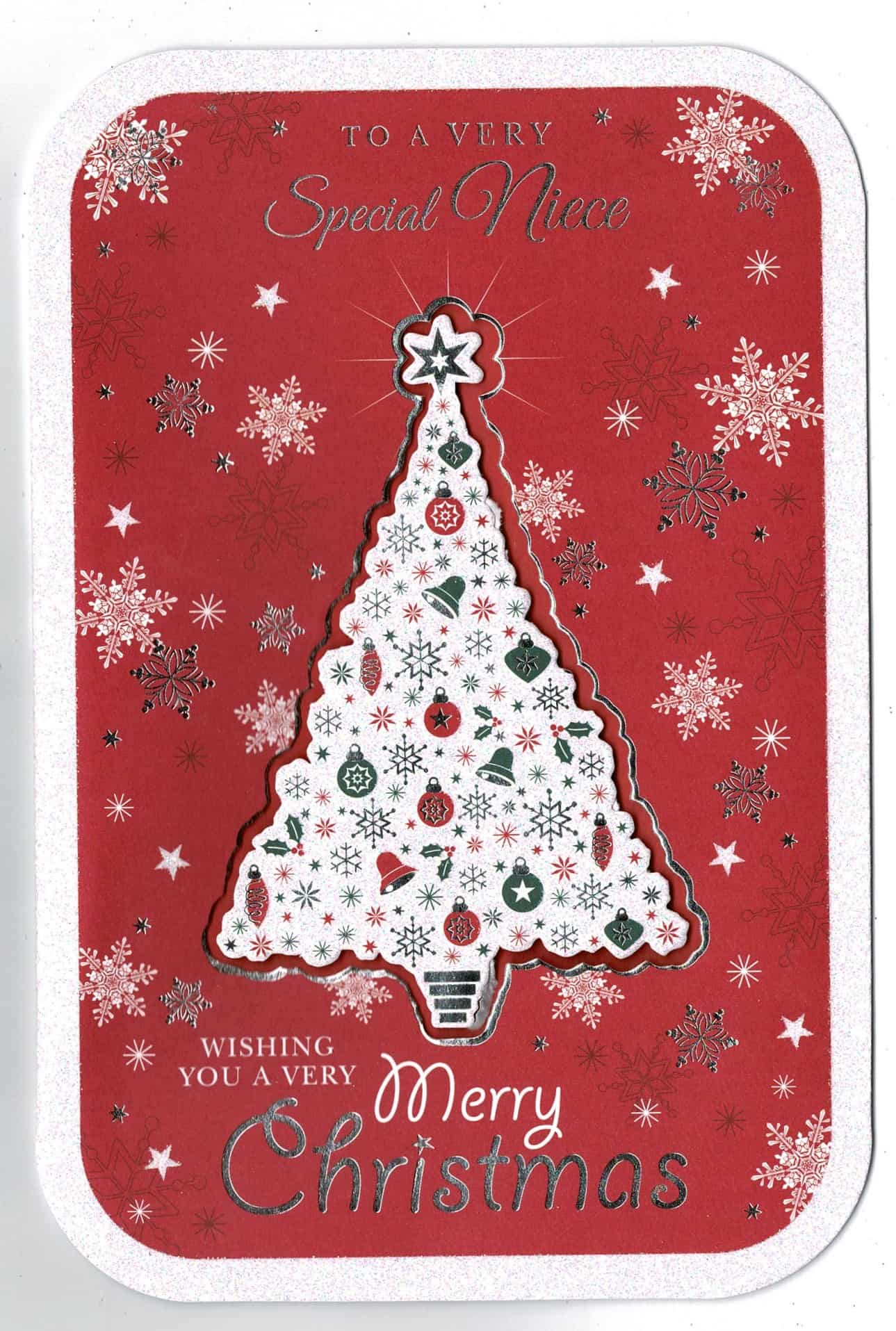 To A Special Niece Christmas Card Embossed /& Foiled Xmas Greeting Cards