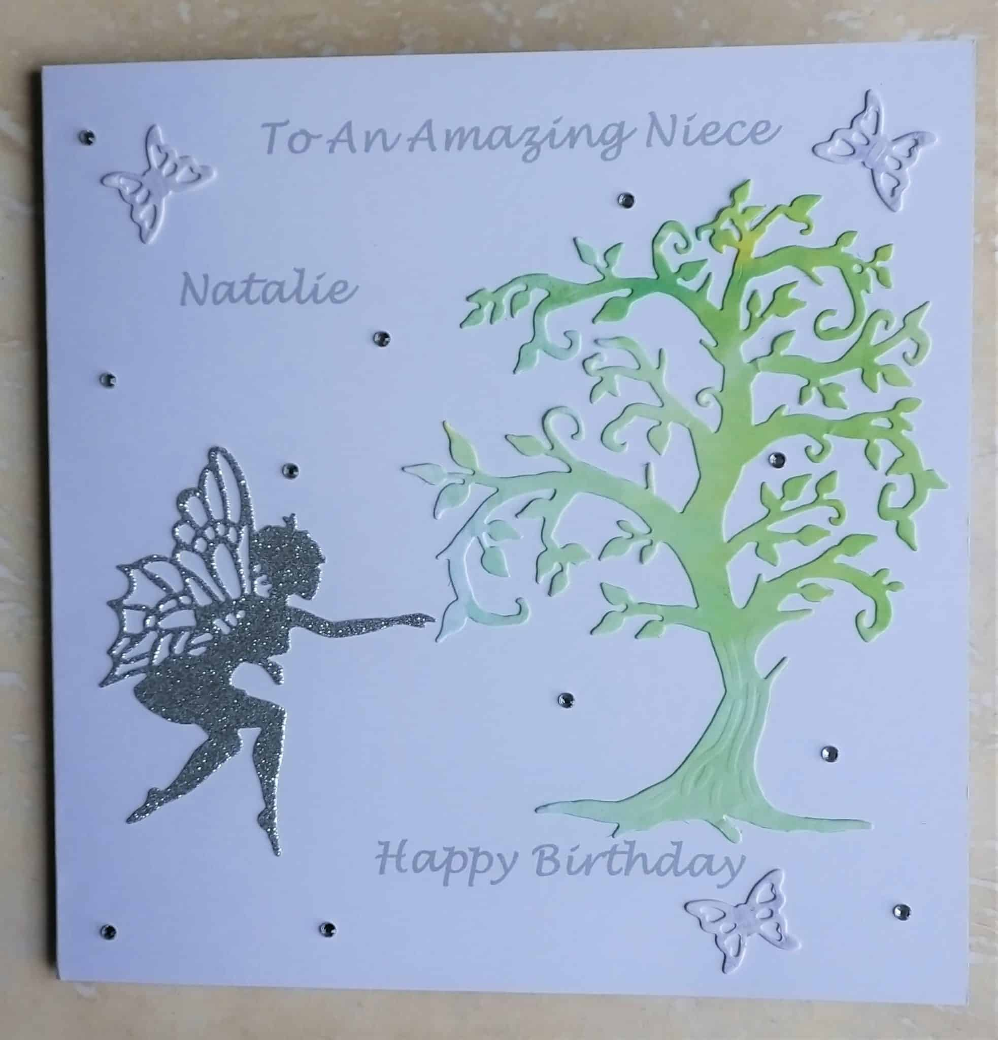 Handmade Personalised Niece Daughter Sister Mum Birthday Card With Fairy Theme