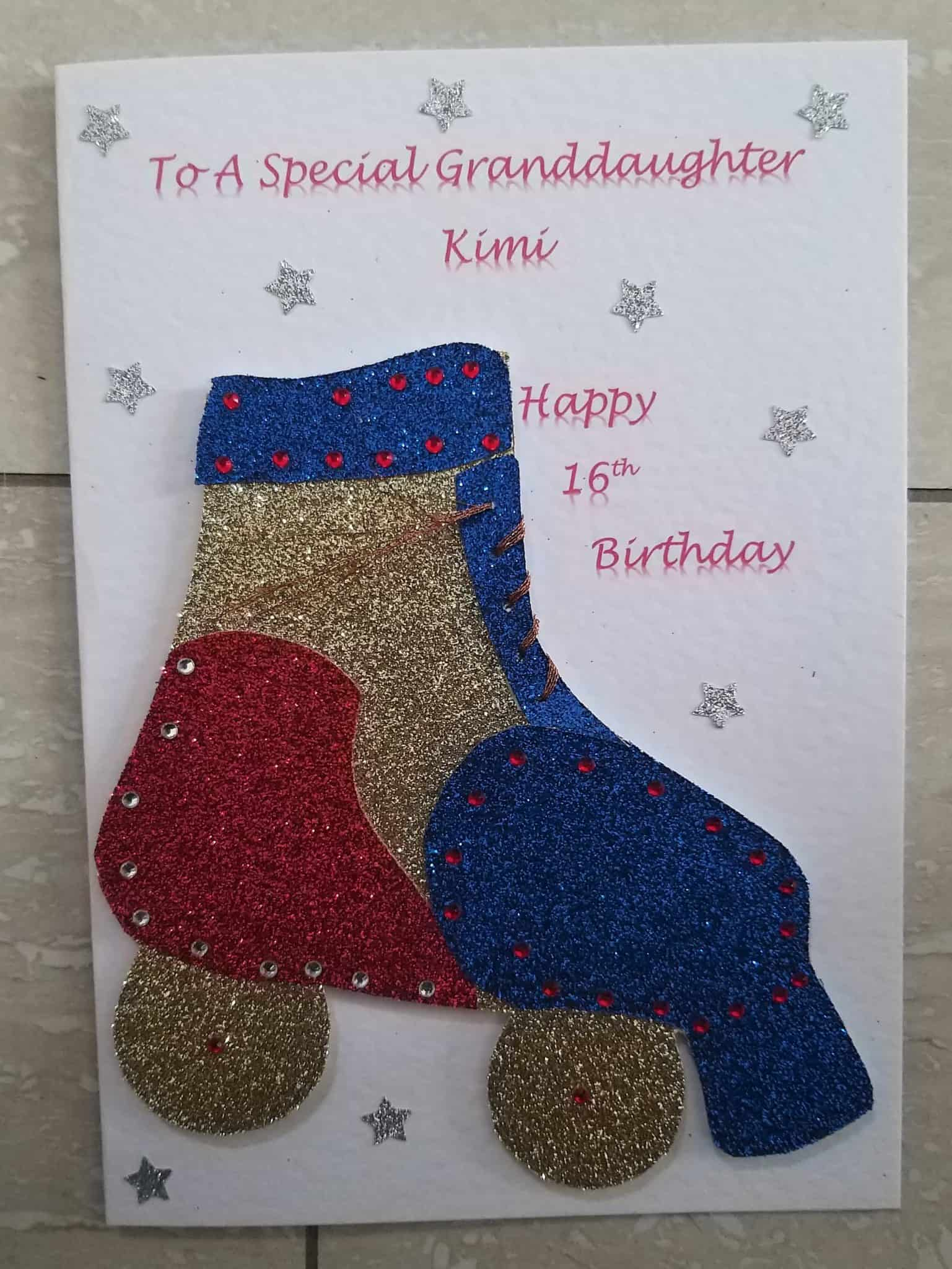 Granddaughter Sister Daughter Birthday Card Handmade And Personalised 20190614 173319