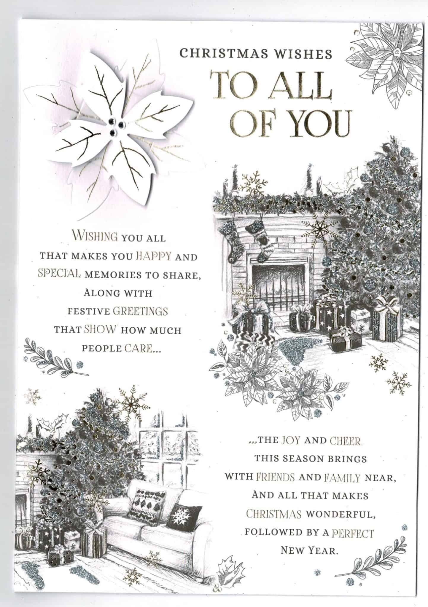 2019 White House Christmas Card.To All Of You Christmas Card Classic Design With Sentiment Verse Large Design 17 Cm X 25 Cm
