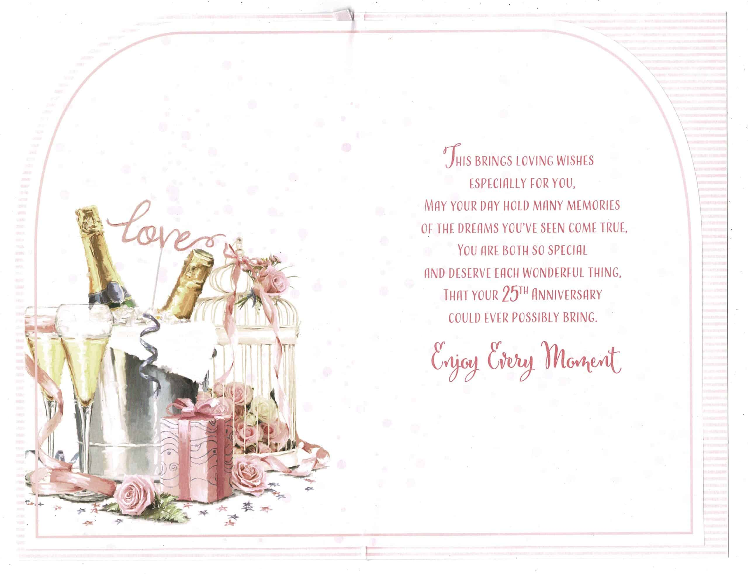 daughter and son in law silver wedding anniversary card