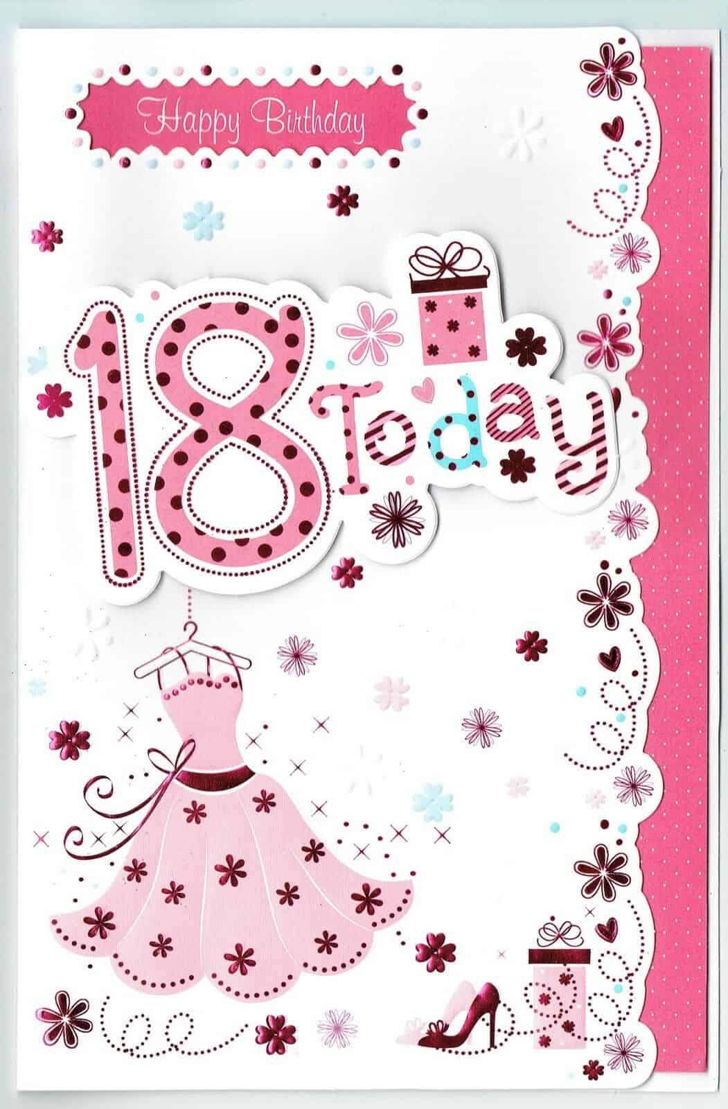 18th female birthday card.