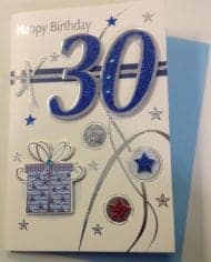30th-Birthday-Card-With-Glitter-And-Gems-282392795850