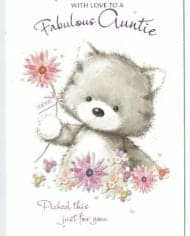 Auntie-Birthday-Card-Embossed-With-Cute-Kitten-Design-Fabulous-Auntie-283363057480