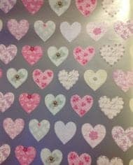 Gift-Wrapping-Paper-Hearts-2-Sheets-2-Tags-195-Free-Postage-282526852510