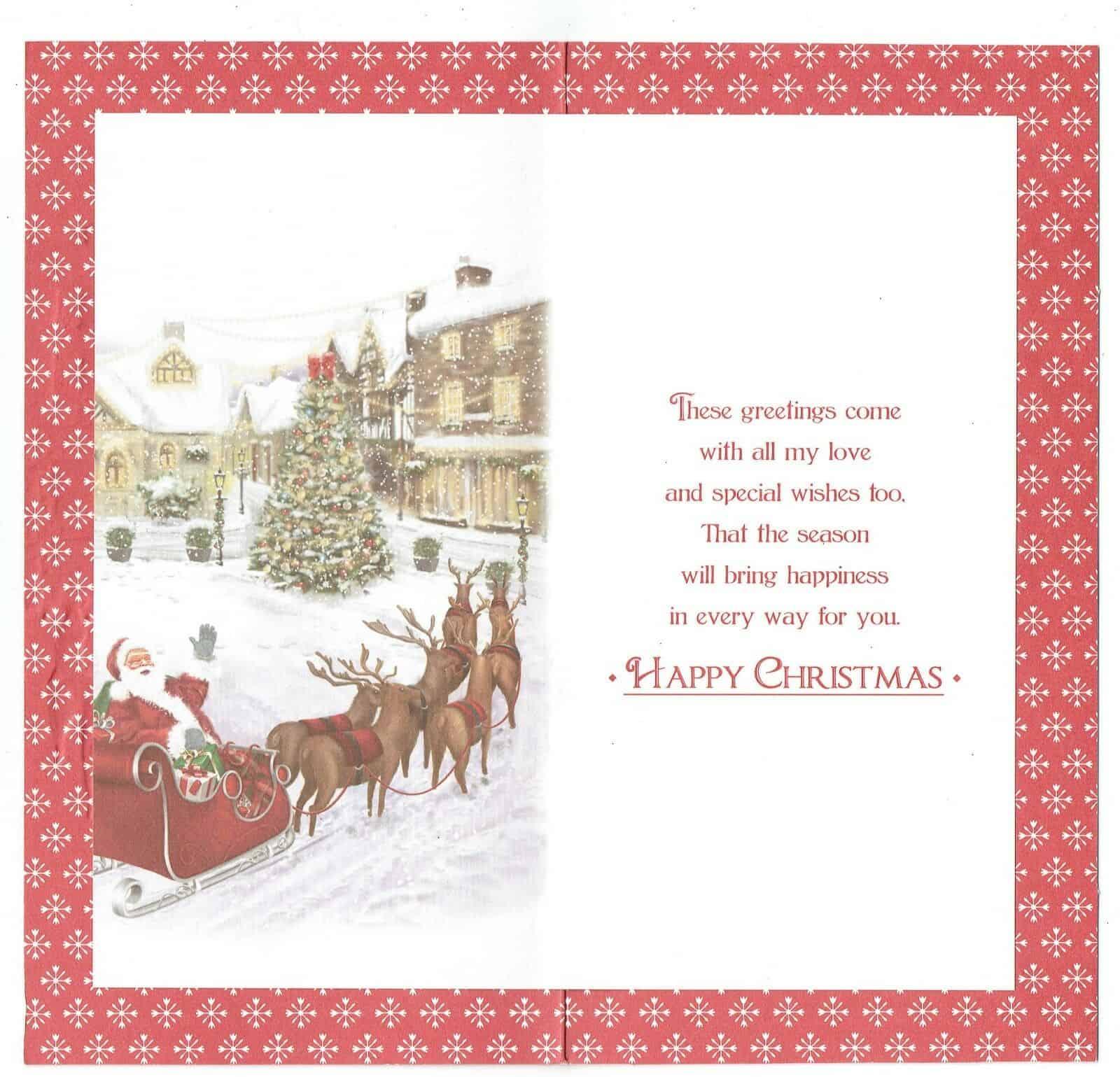 husband christmas card 'to my wonderful husband at