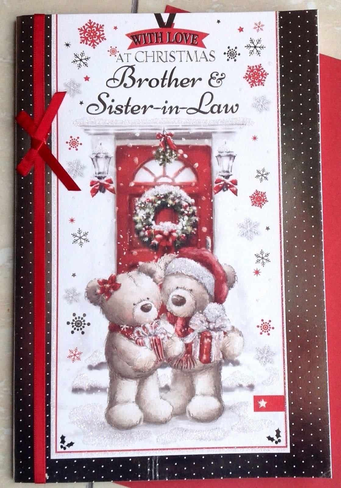 Christmas Gifts For Brother And Sister In Law.Brother Sister In Law Christmas Card