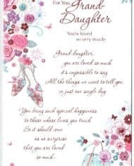 Granddaughter-Birthday-Card-With-Lovely-Sentiment-Verse-Shoes-Flower-Design-283227366291