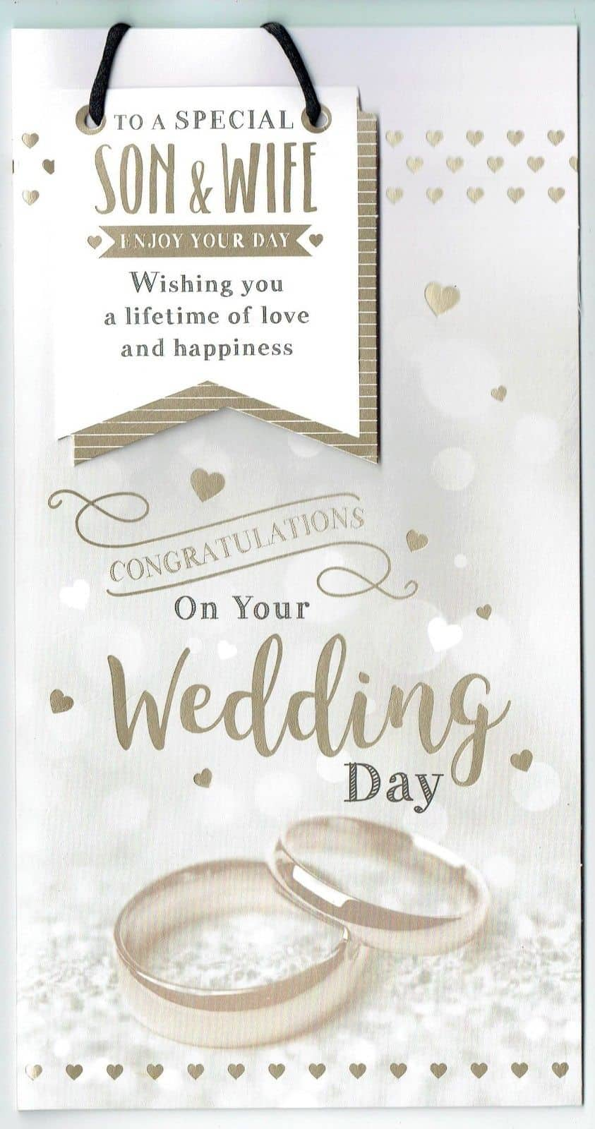 Congratulations On Your Wedding Day.Son And Wife Wedding Day Card Congratulations On Your Wedding Day