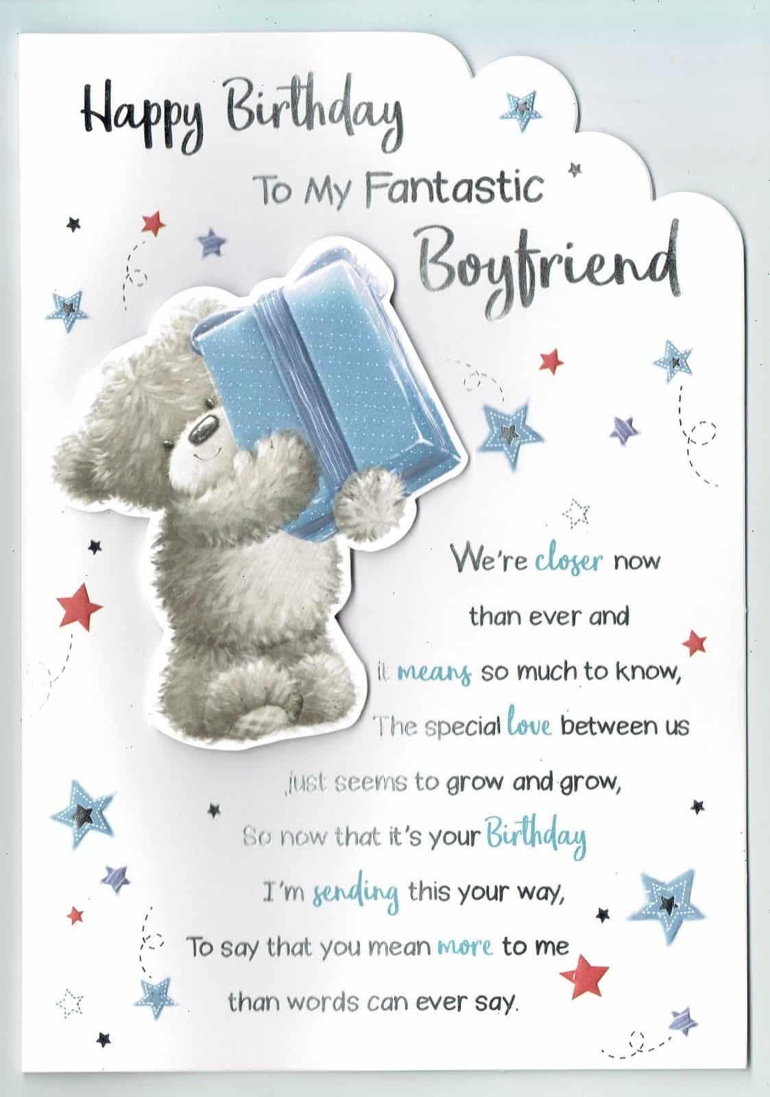 Boyfriend Birthday Card TO MY FANTASTIC BOYFRIEND Large