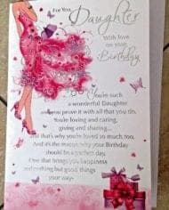 Daughter-Birthday-Card-Embossed-With-Lovely-Sentiment-Verse-282475824302