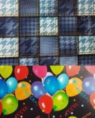 Gift-Wrap-Paper-Balloons-Blue-Squares-2-Sheets-2-Tags-190-282877609902