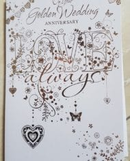 Golden-50th-Wedding-Anniversary-Card-Classic-Gold-And-White-Design-282968265142