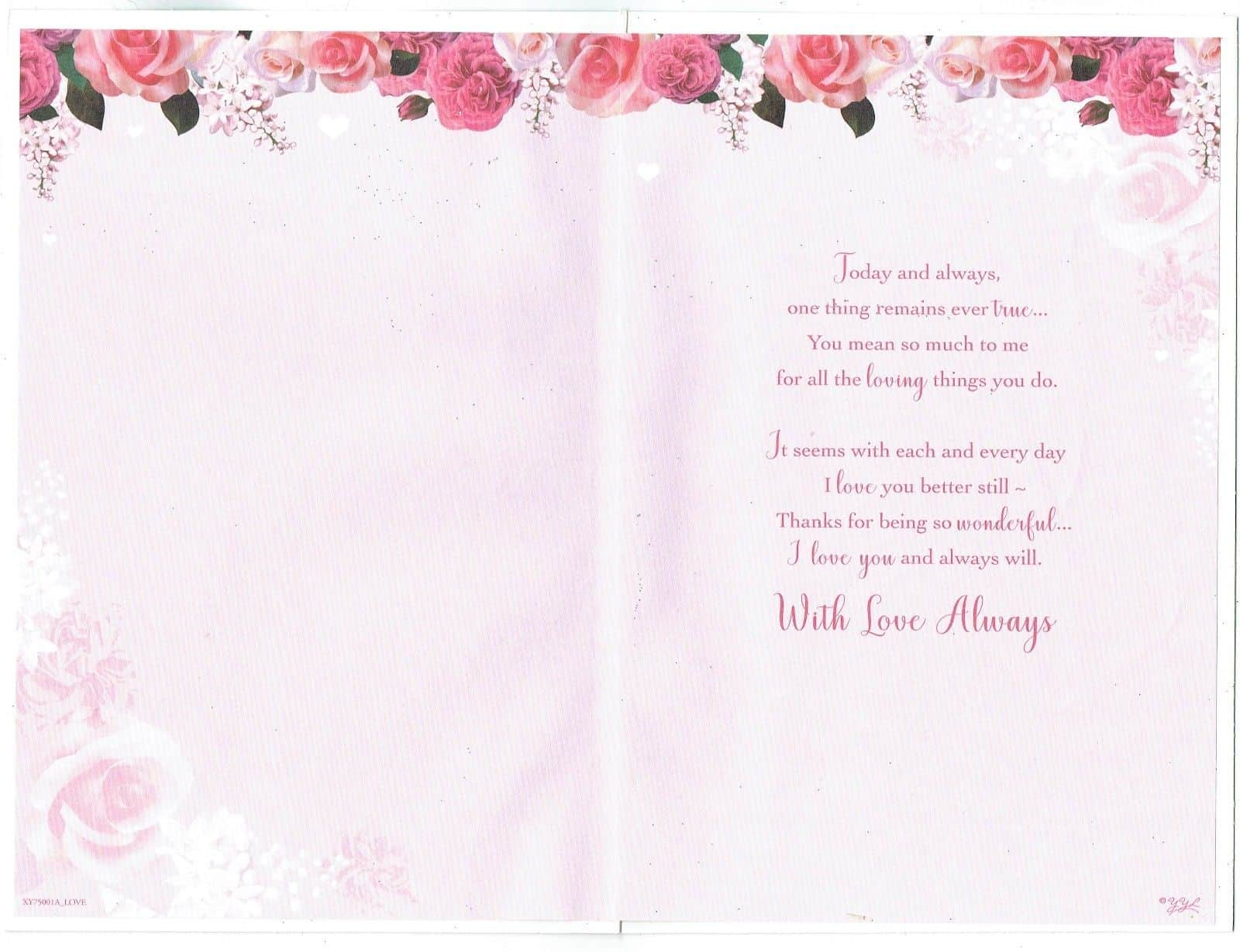 One I Love Birthday Card Partner Girlfriend Fiance 283034938322 2