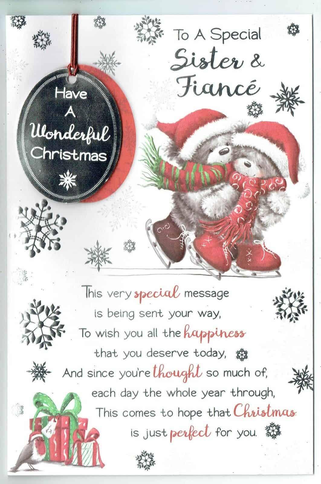 Sister And Boyfriend Christmas Card