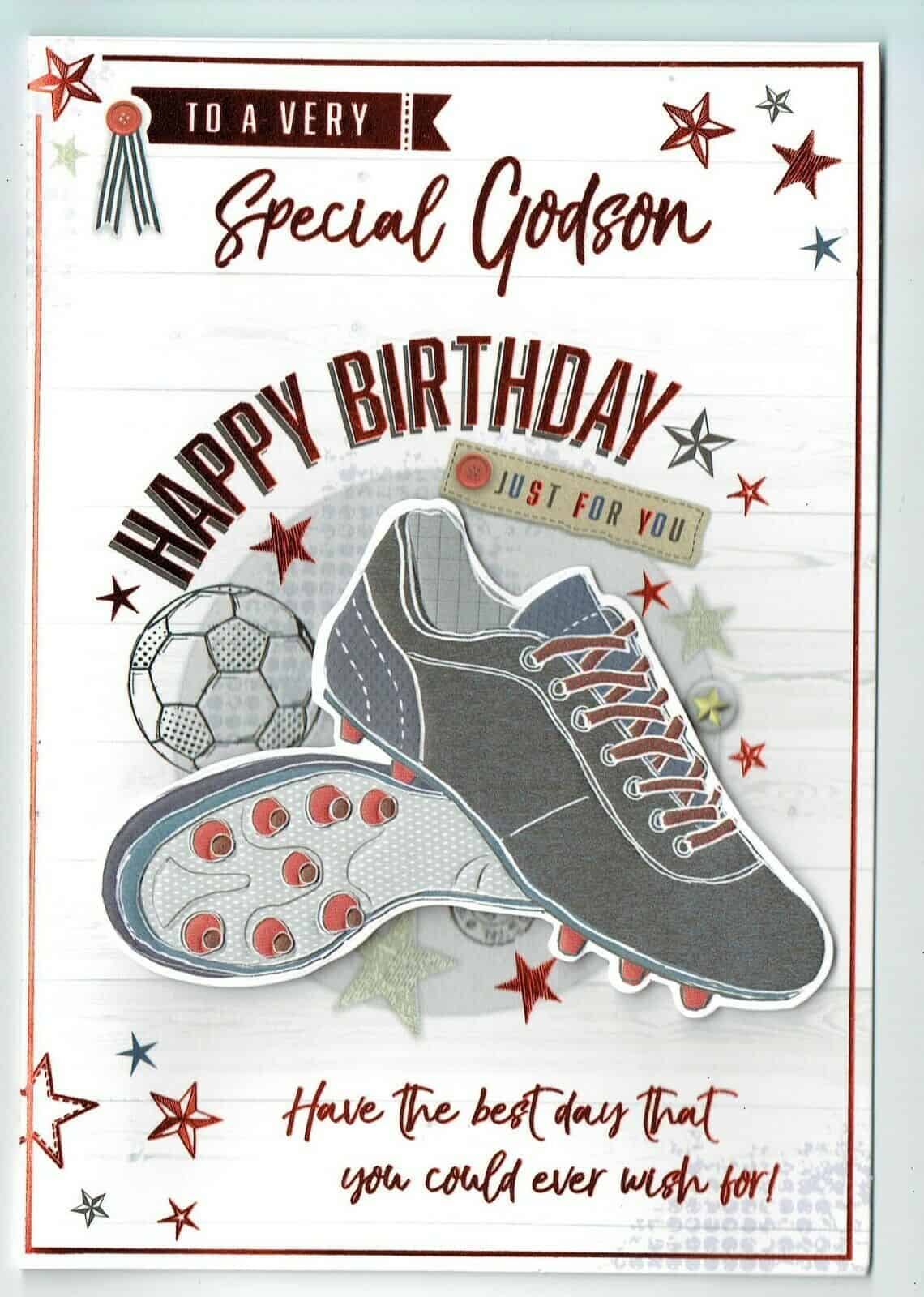 Godson Birthday Card TO A VERY SPECIAL GODSON