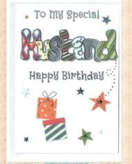 Husband-Birthday-Card-With-Embossed-Funky-Design-282690423223