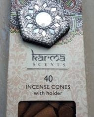 Variation-of-Incense-Cones-Karma-Scents-With-Glitter-Sparkle-Holder-Free-Postage-282607568823-258d