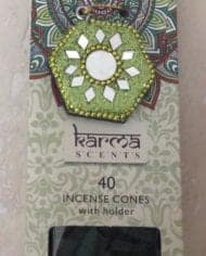 Variation-of-Incense-Cones-Karma-Scents-With-Glitter-Sparkle-Holder-Free-Postage-282607568823-c514