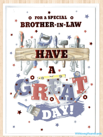 Brother In Law Birthday Card With A DIY Theme