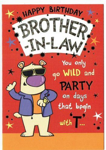 Brother In Law Birthday Card With Embossed Trio Of Dogs Design Feesten Speciale Gelegenheden