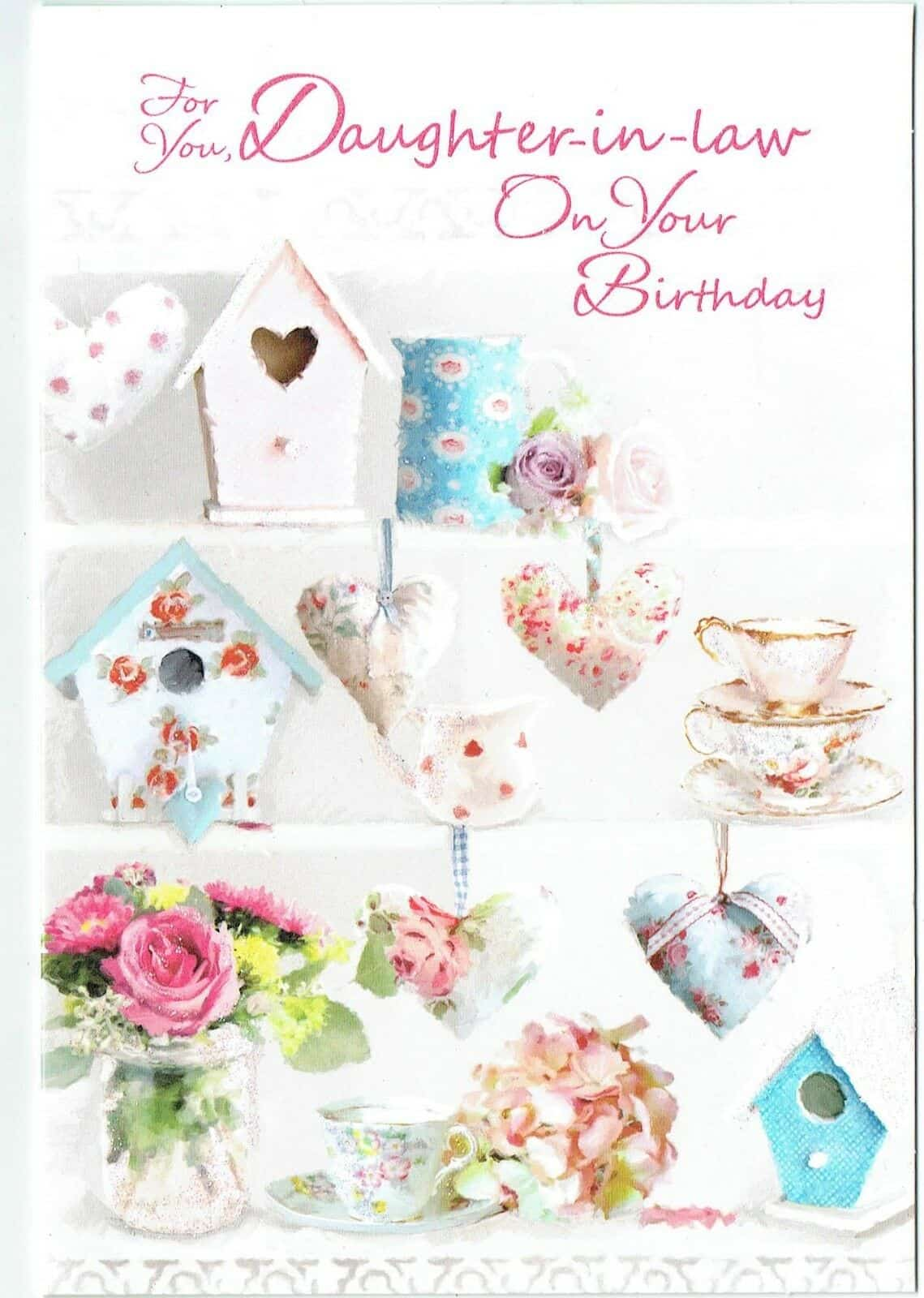 Daughter In Law Birthday Card With Country Cottage