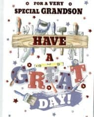 Grandson-Birthday-Card-Embossed-With-A-DIY-Tools-Theme-Free-Postage-282996310624