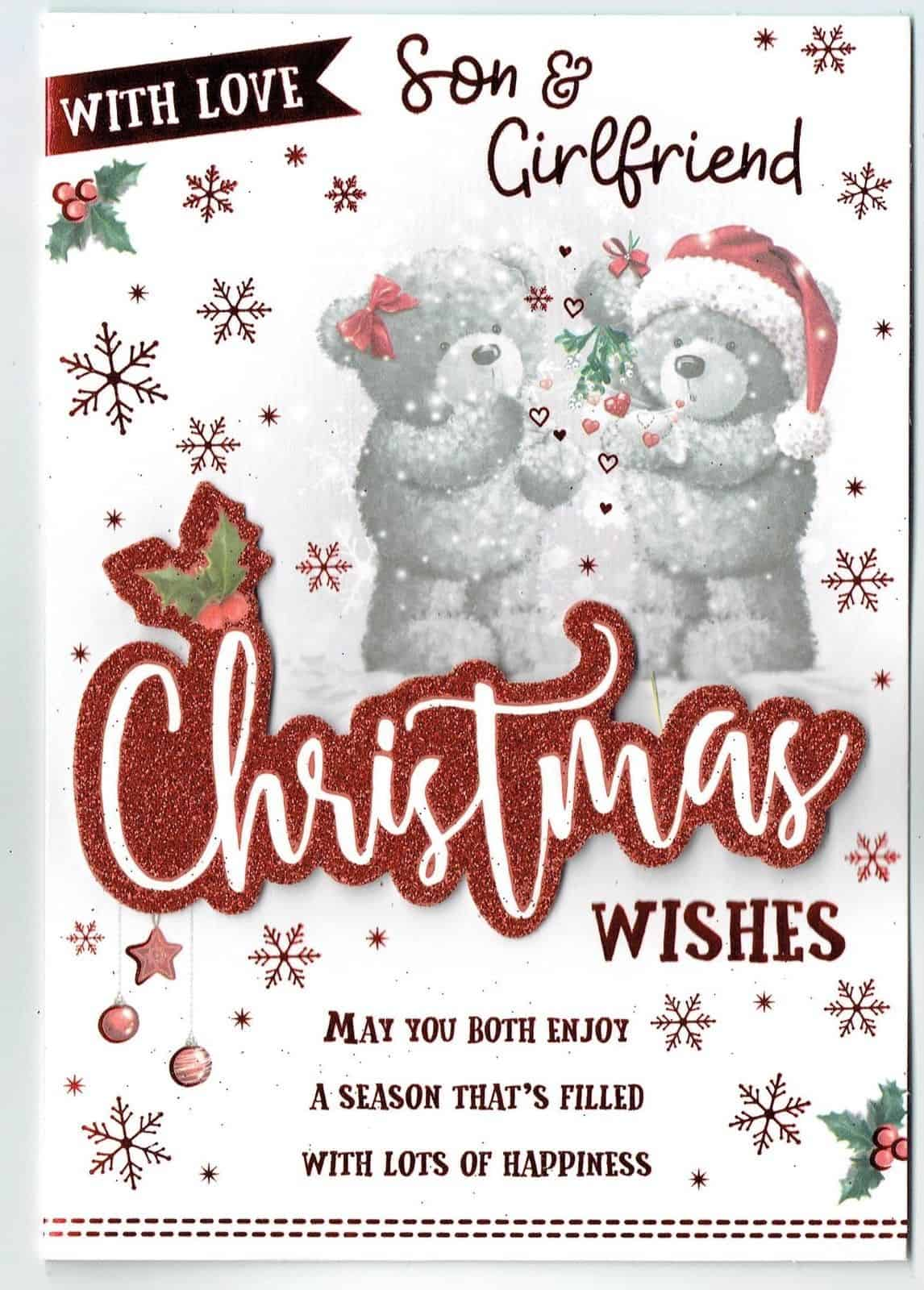 Quality Christmas Card  Cute With Lovely Words DAUGHTER AND SON-IN-LAW