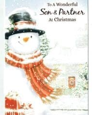 Variation-of-Son-amp-Partner-Christmas-Cards-Choice-Of-2-Festive-Designs-283304839294-076a