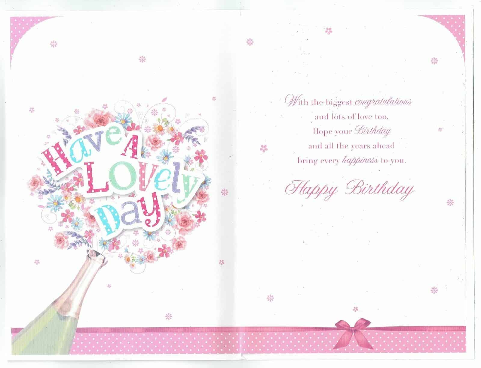 Daughter Birthday Card 21st With Champagne Theme To