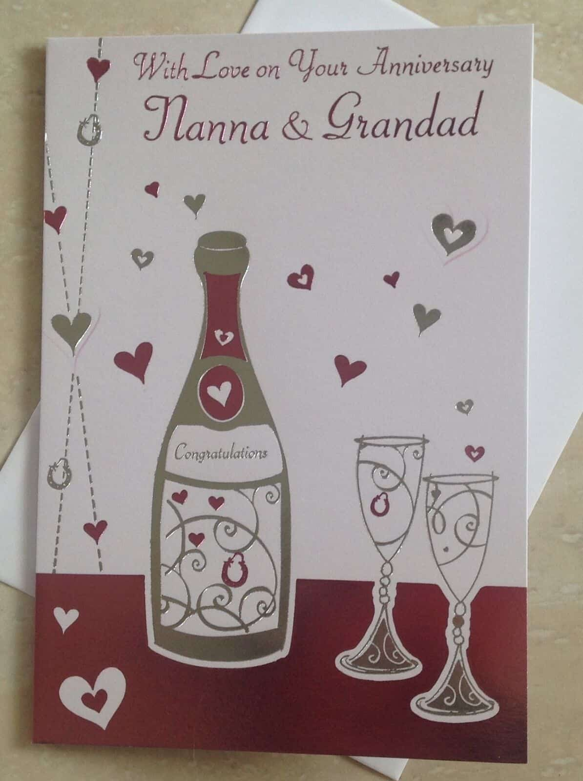 Nanna /& Grandad Anniversary Card Various Designs To Choose From.