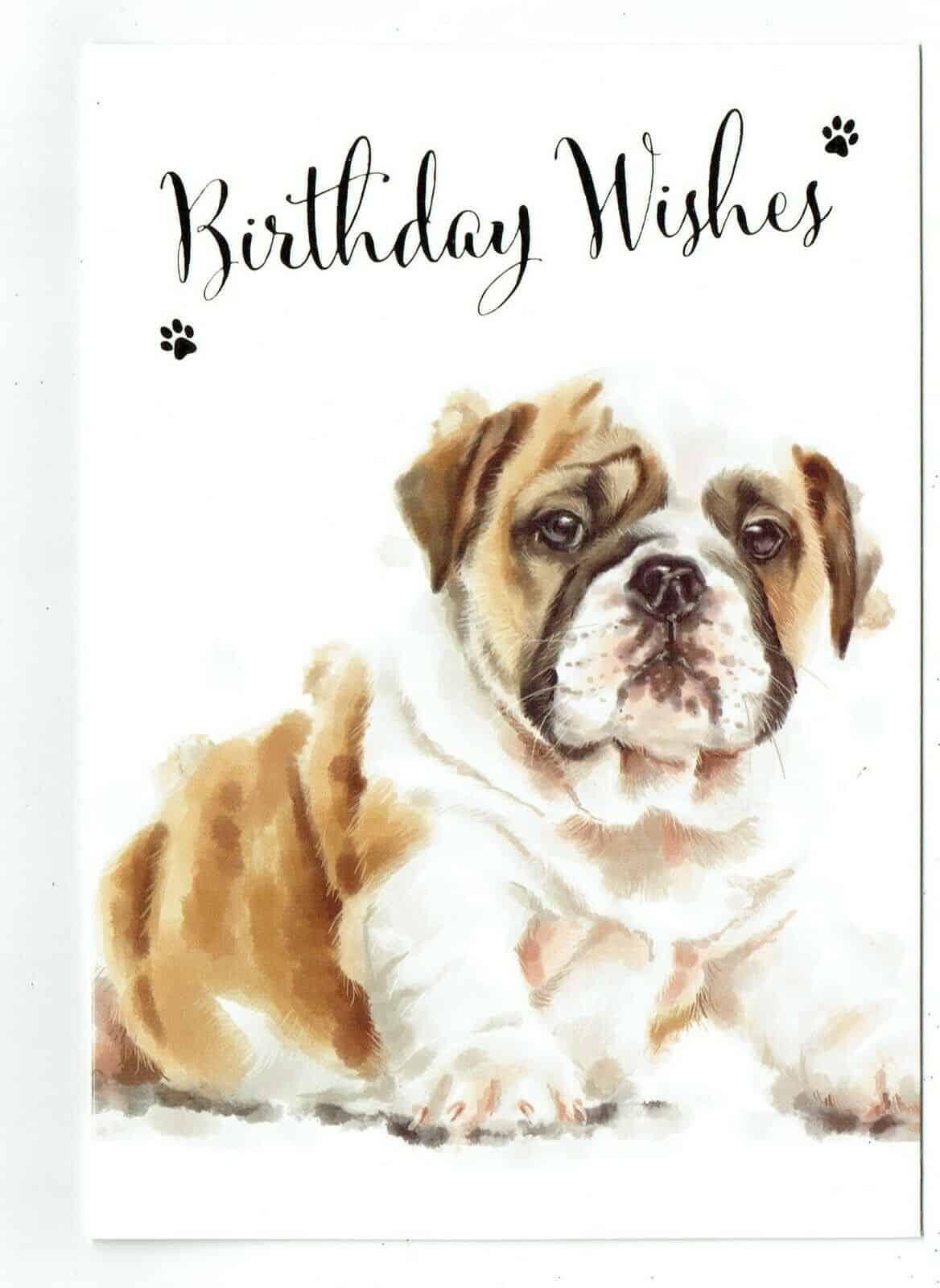 General Birthday Card With Cute Dog Design BIRTHDAY