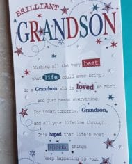 Grandson-Birthday-Card-Embossed-With-Stars-Sentiment-Verse-282824635425