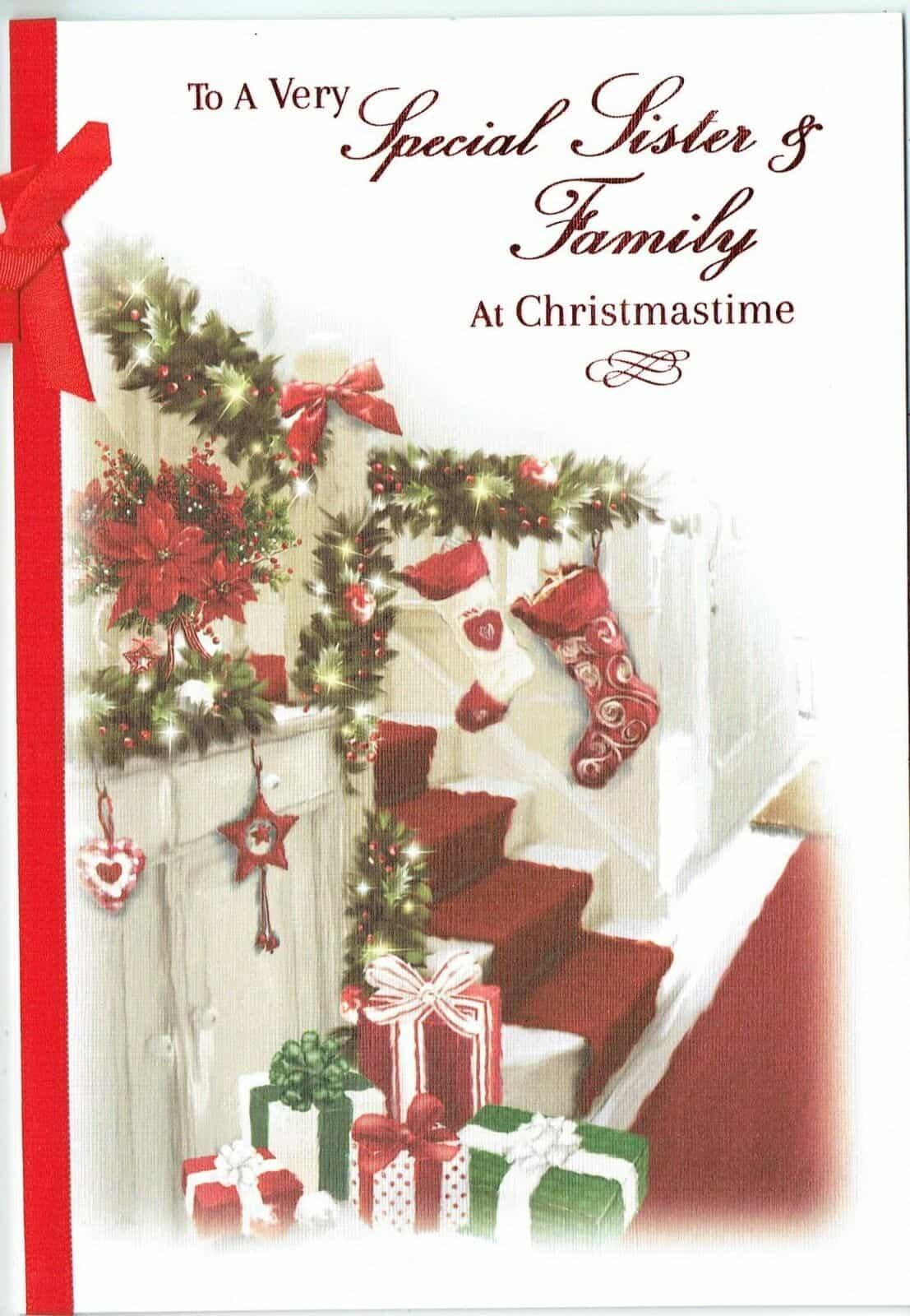 Family Christmas Gifts.Sister Family Christmas Card