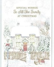 To-All-The-Family-Christmas-Card-With-Christmas-Snow-Covered-Cottage-Scene-283304846245