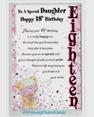 Daughter-18th-Birthday-Card-Embossed-With-Lovely-Sentiment-Verse-282903123346