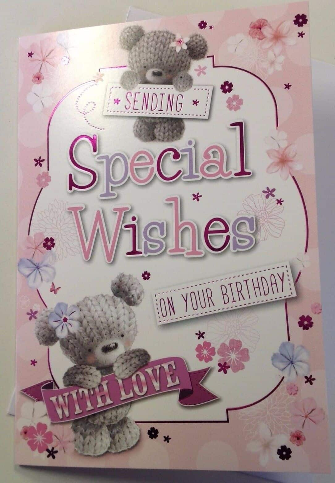 General Birthday Card With Cute Teddy Bears Design