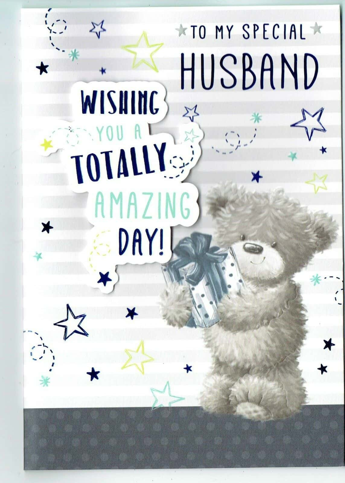 husband birthday card 'to my special husband'  with love