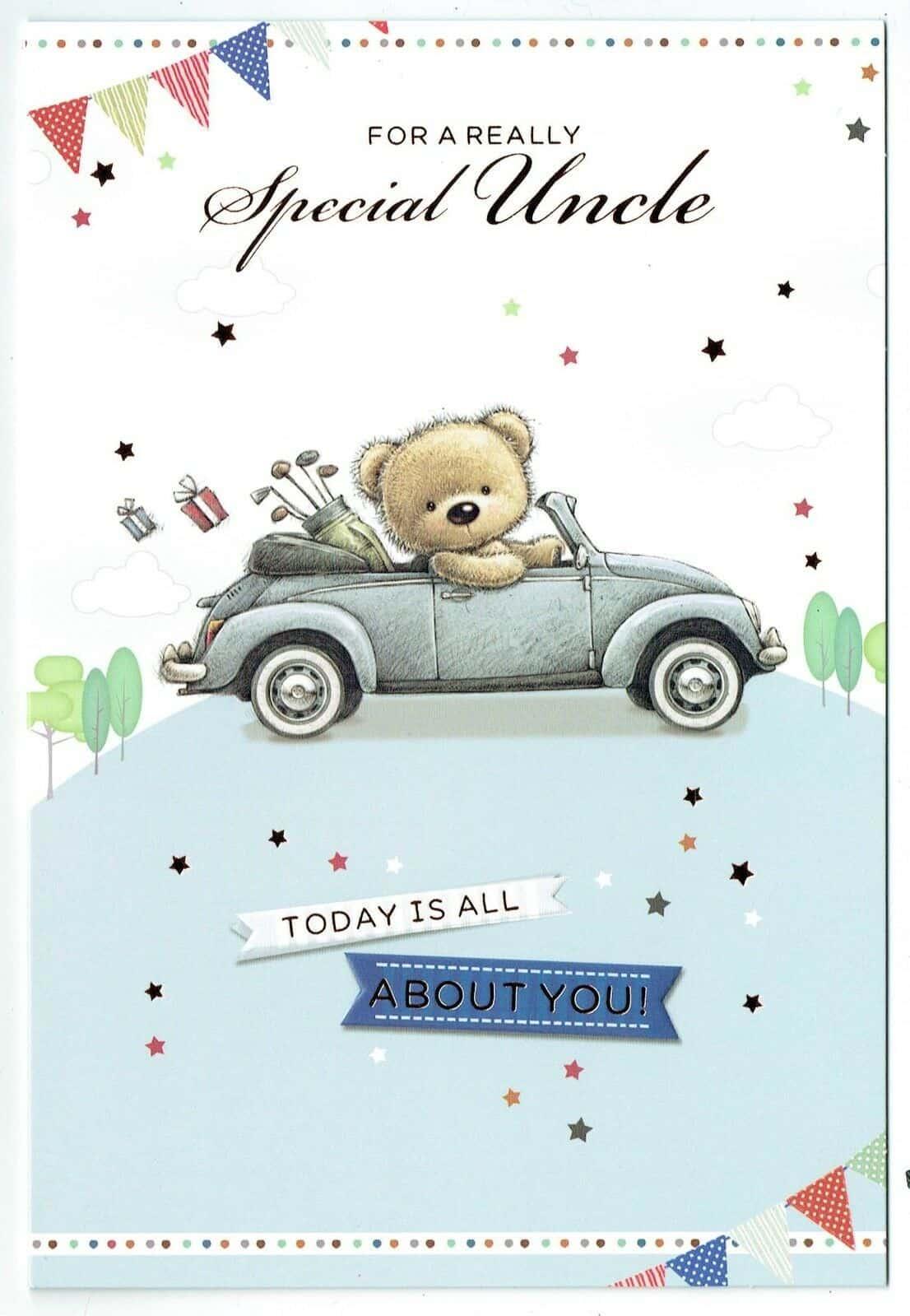 Uncle Birthday Card With Teddy Bear Design 283083279006