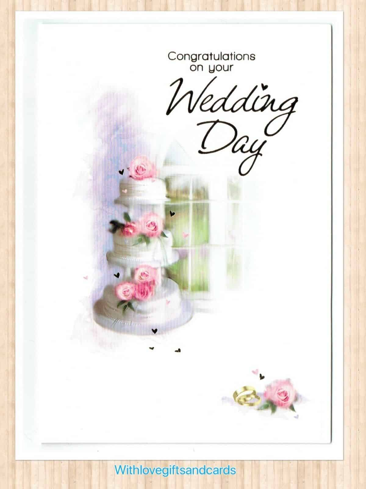 Congratulations On Your Wedding Day.Wedding Day Card Congratulations On Your Wedding With Love