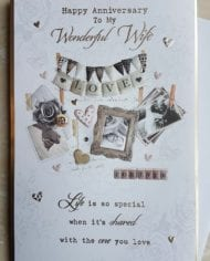 Wife-Anniversary-Card-With-Sentiment-Verse-MY-WONDERFUL-WIFE-282568849276