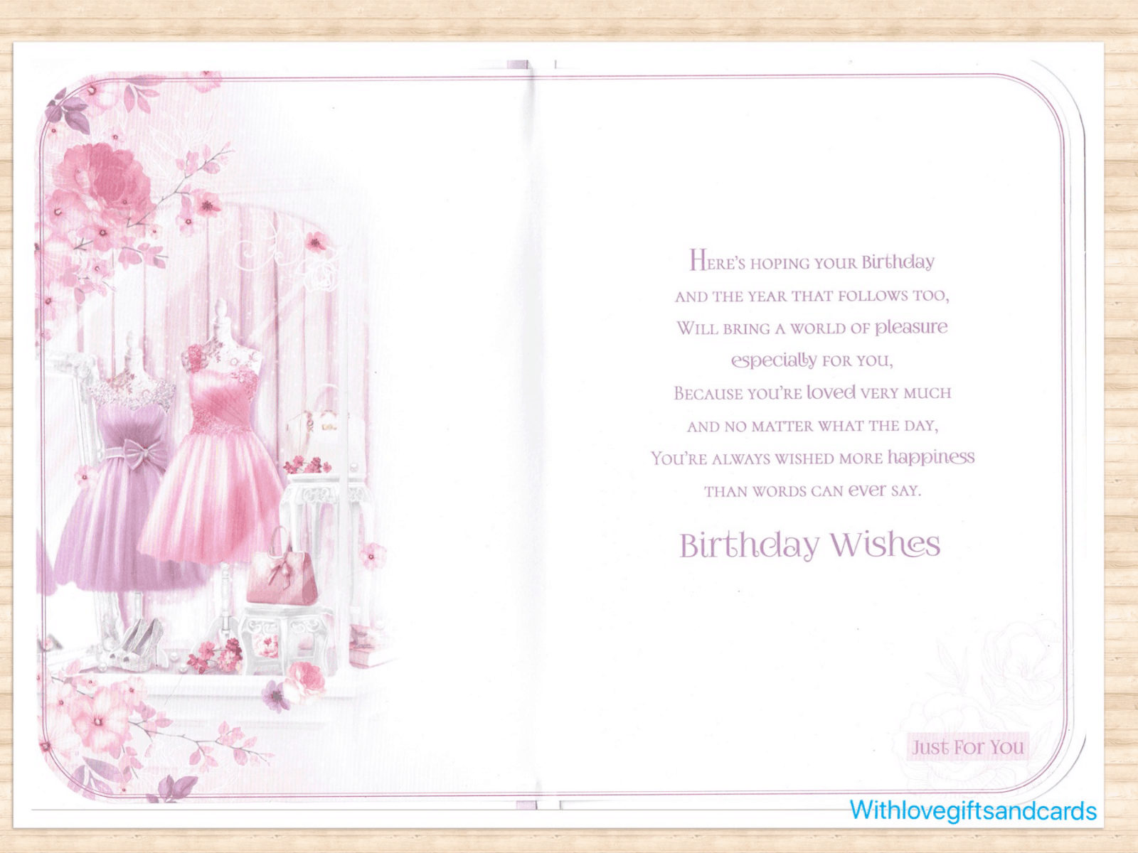 Daughter Birthday Card With Mannequin Dress And Sentiment Theme