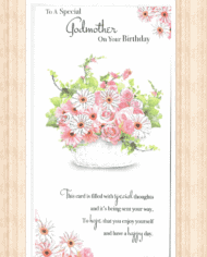 Variation Of Godmother Birthday Card Choice Three
