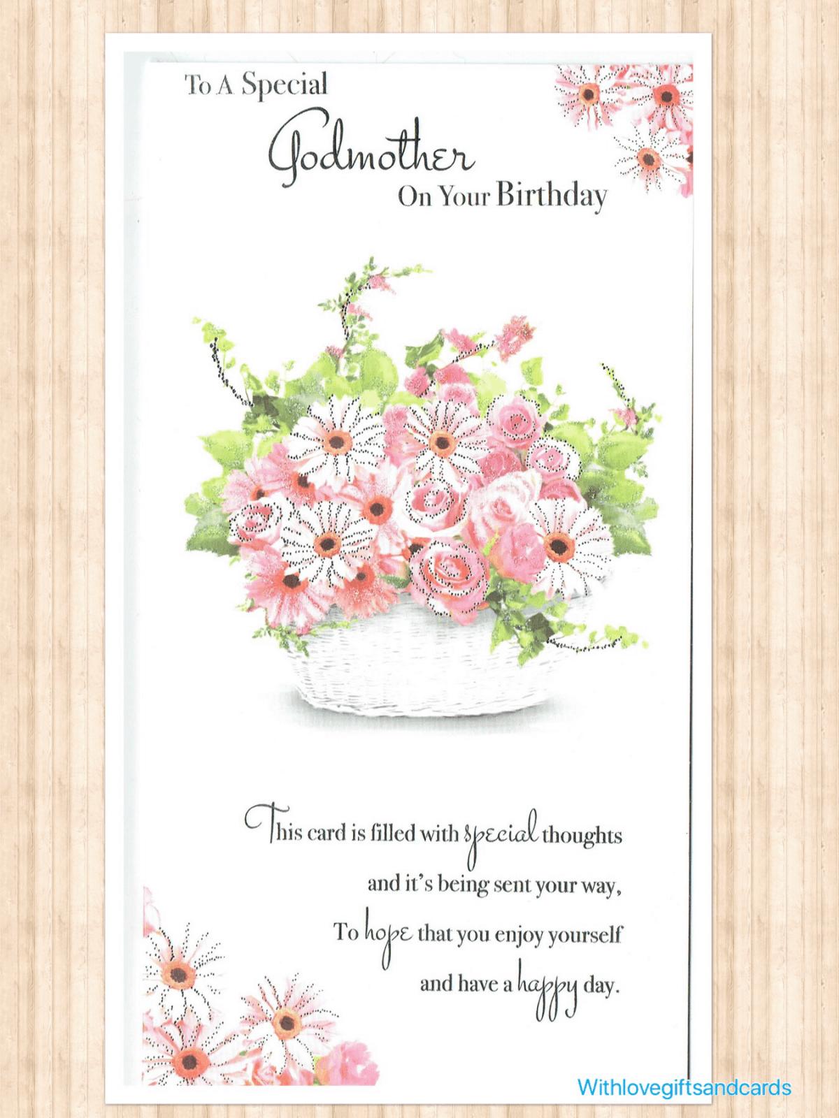Variation Of Godmother Birthday Card Choice Three