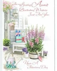 Aunt-Birthday-Card-FOR-A-LOVELY-AUNT-Free-P-And-P-283361512658