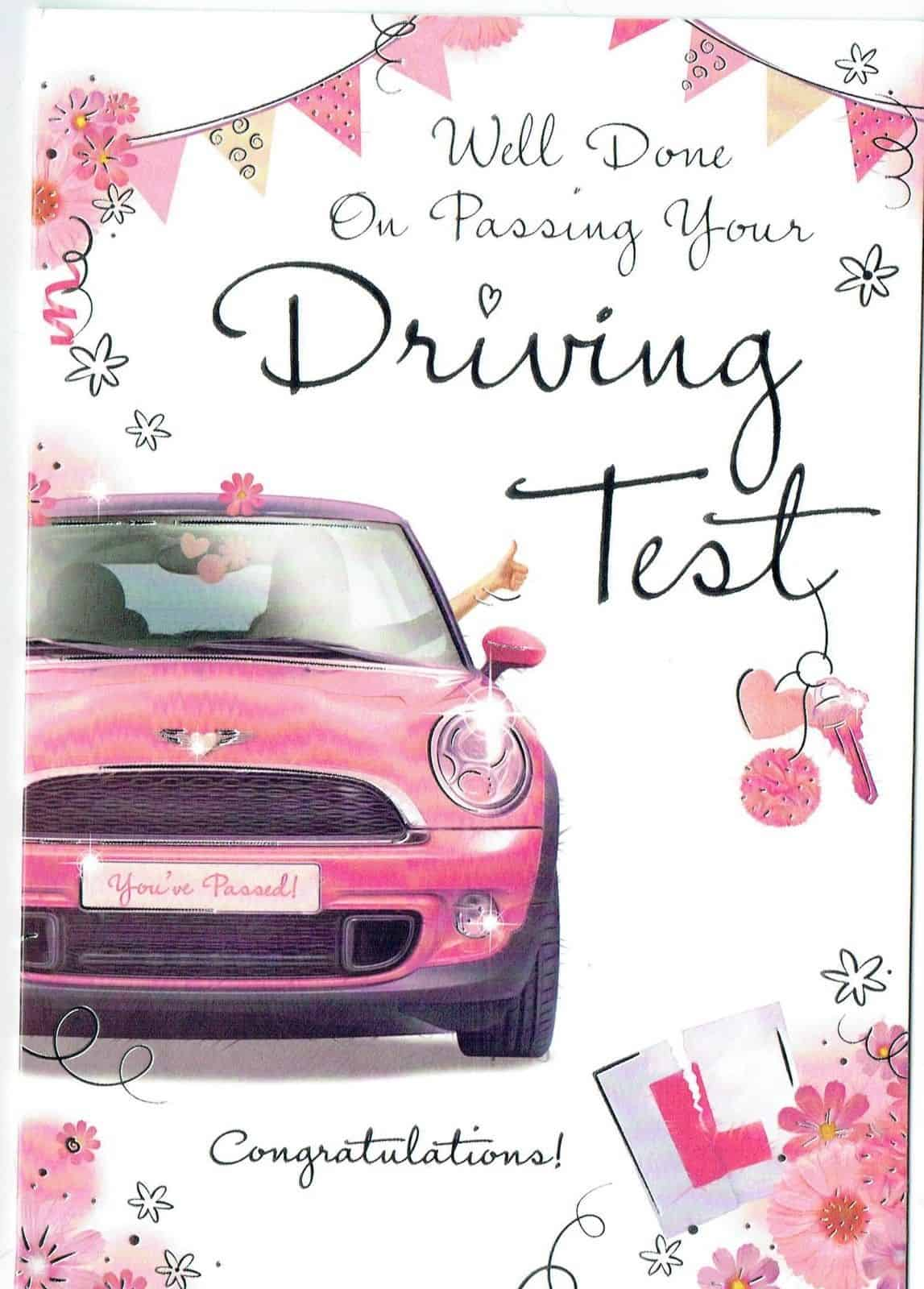 Well Done Him Personalised Handmade Passed Driving Test Card Congratulations