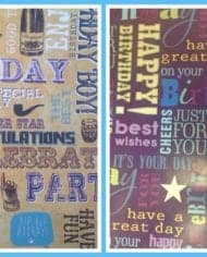 Gift-Wrapping-Paper-Happy-Birthday-175-For-2-Sheets-Tags-282409157778