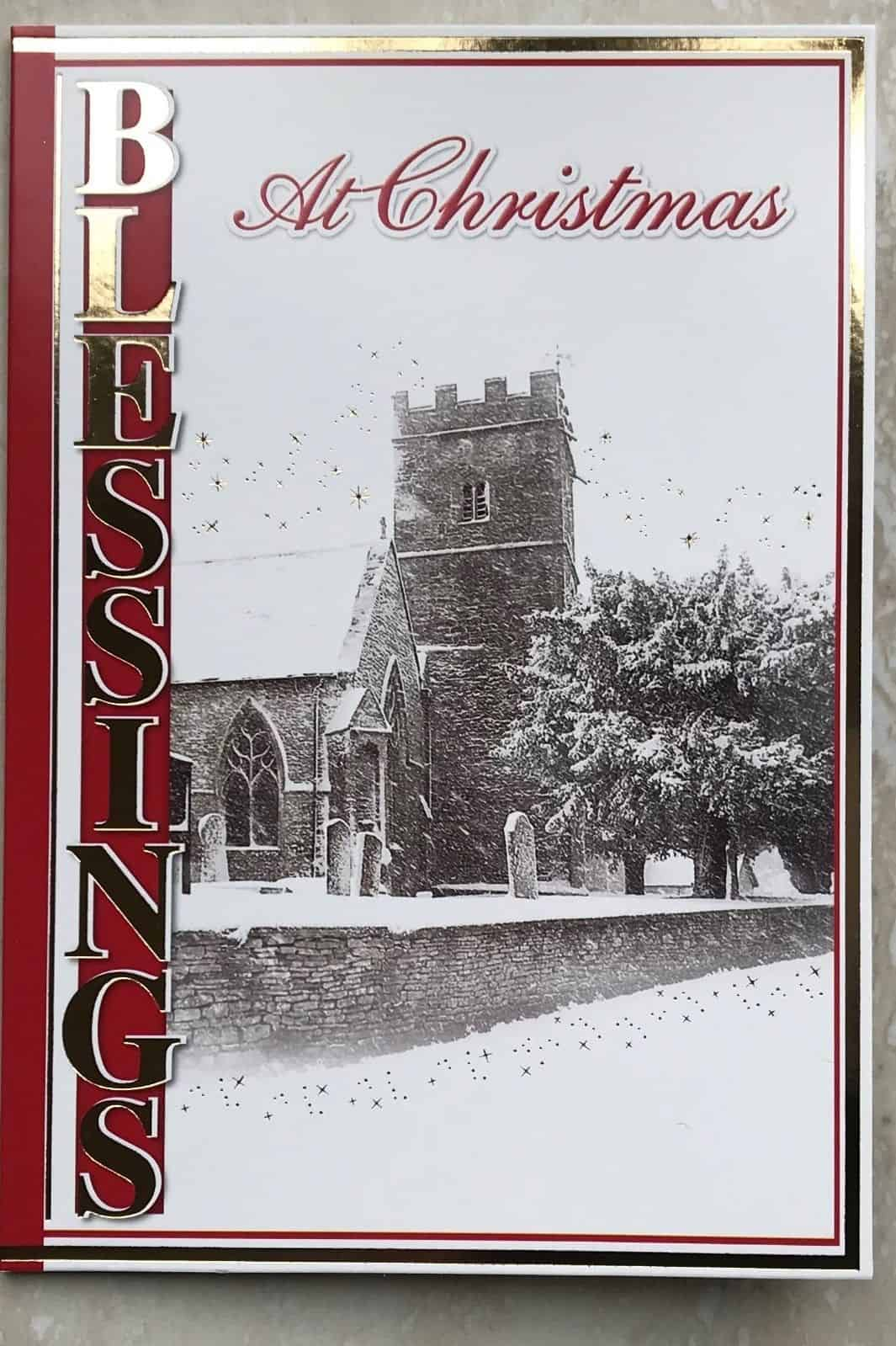 Religious Christmas Images.Religious Christmas Card With Traditional Church Scene