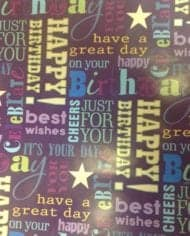 Variation-of-Gift-Wrapping-Paper-039Happy-Birthday039-175-For-2-Sheets-amp-Tags-282409157778-0fa5